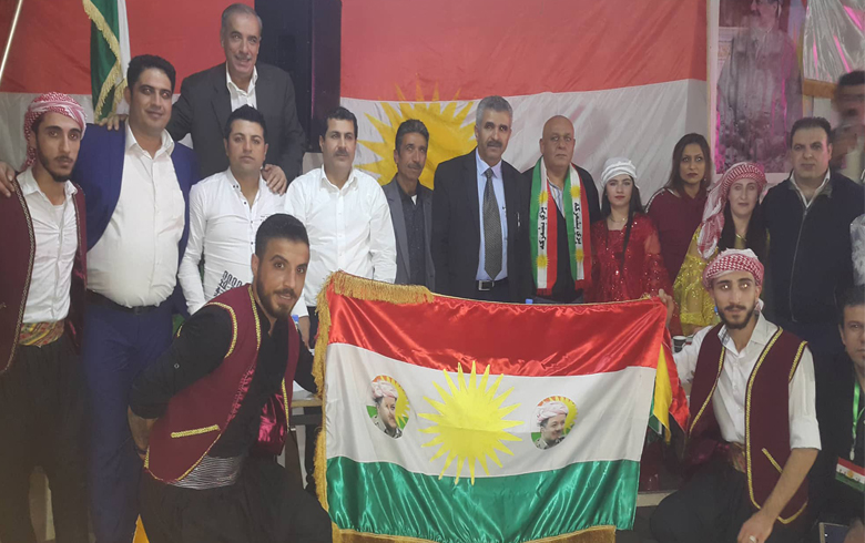 The Lebanon Organization of PDK-S and the Local of the student union and the Democratic Youth of Kurdistan - Rojava are commemorating Kurdistan Flag Day