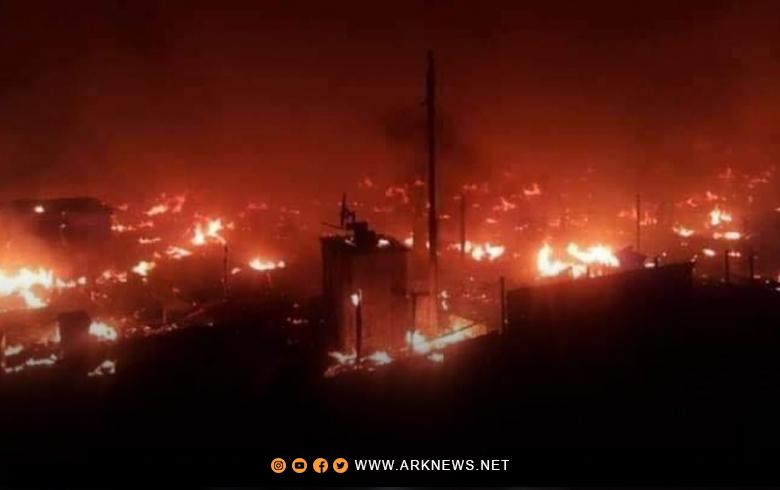 Hejmarek Lubnanî kampeke penaberên Sûriyê şewitand