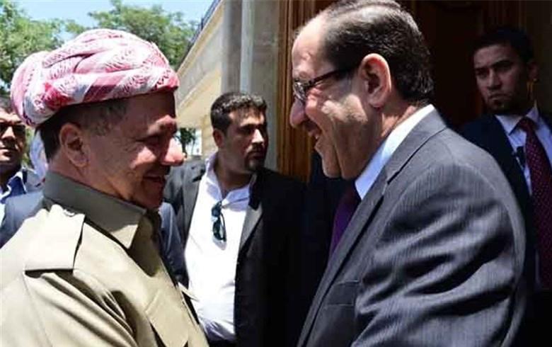 المالكي يوجّه رسالة إلى الرئيس مسعود بارزاني