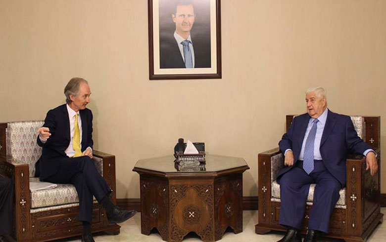 Pedersen reviews the political path to resolving the crisis in Syria and the constitutional committee with al-Moallem