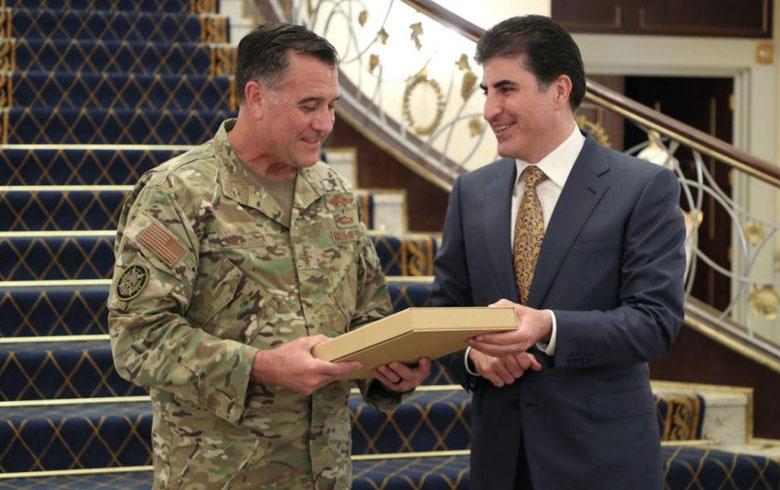تفاصيل اجتماع رئيس كوردستان وقائد قوة العمليات الخاصة للتحالف الدولي في العراق وسوريا