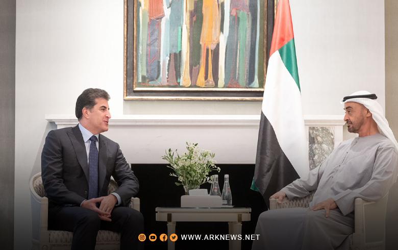 الرئيس نيجيرفان بارزاني يجتمع مع ولي عهد أبو ظبي