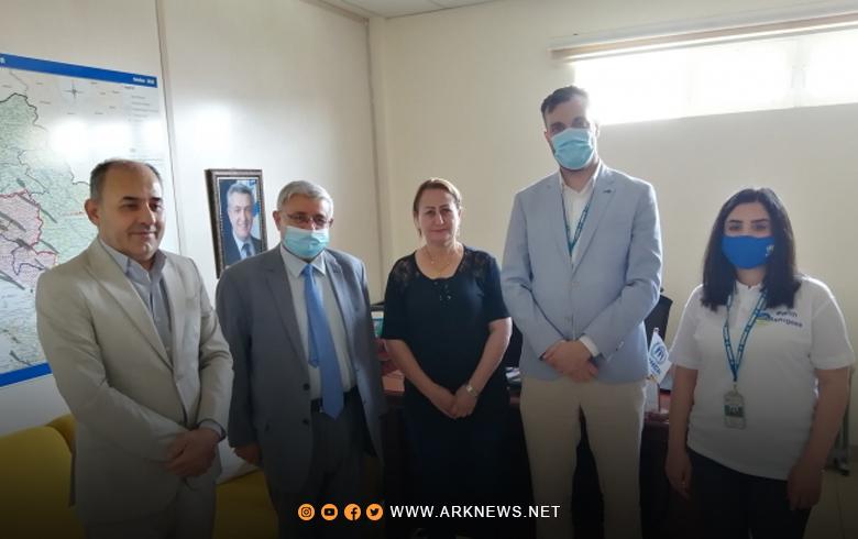 وفد من ممثلية إقلیم کوردستان یزور مقر هیئة الأمم المتحدة في أربيل