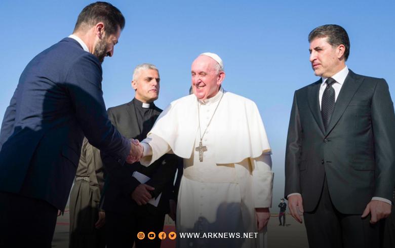ما الذي أضحك البابا لدى مصافحة قوباد طالباني؟