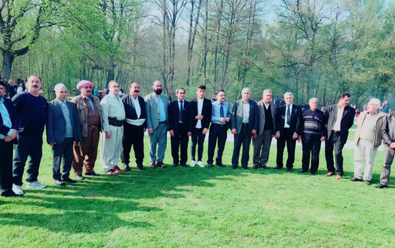 A delegation from the European Organization the PDK-S and the Student Union visit the German Lalish Center in Bielefeld on the occasion of Yezidi New Year's Eve