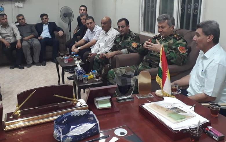 Şandek ji Leşkerê Roj seredana ofîsa rêxistina Domîz ya Partiya Demokrata Kurdistan- Sûriya kir