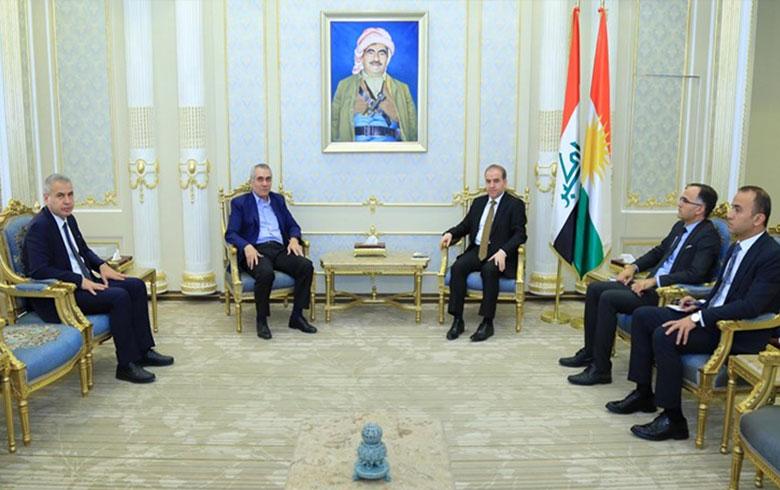 وفد من ENKS يجتمع مع نائب رئيس برلمان كوردستان