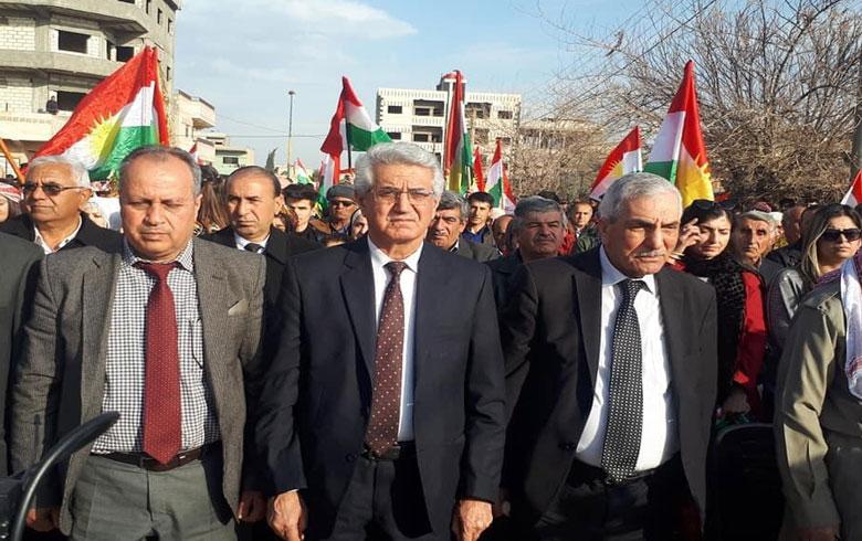 بحضور رئيس ENKS... إحياء ذكرى رحيل البارزاني الخالد في قامشلو