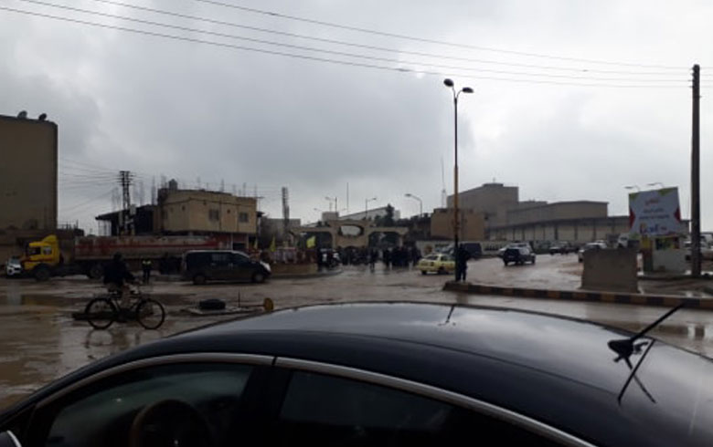 Demonstration against the PYD in Qamishlo