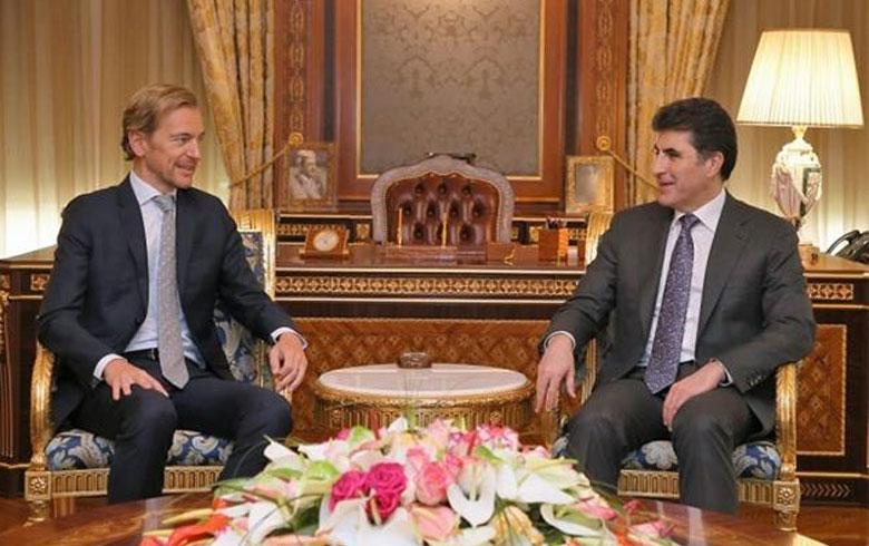 نيجرفان بارزاني يبحث مع سفير بلجيكا الأوضاع السياسية في العراق وإقليم كوردستان