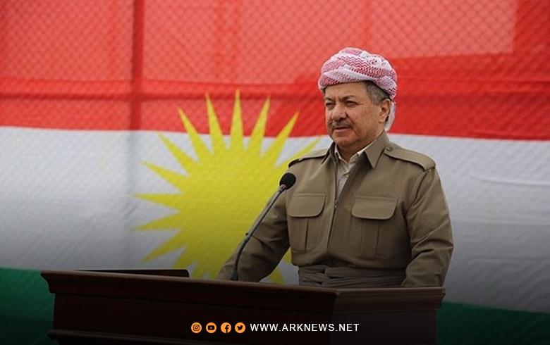 الرئيس مسعود بارزاني يرد على برقية الحزب الديمقراطي الكوردستاني – سوريا