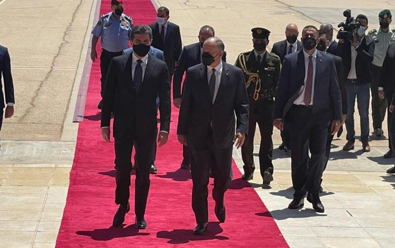 في زيارة رسمية... رئيس إقليم كوردستان يصل العاصمة الأردنية
