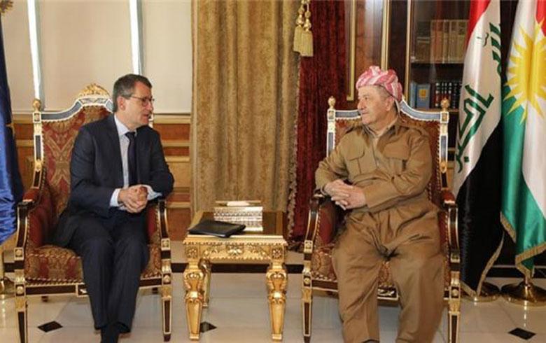 Serok Barzanî bo Yekîtiya Ewropa: Em ji ber rewşa gelê Kurd li Sûriyê dilgiran in