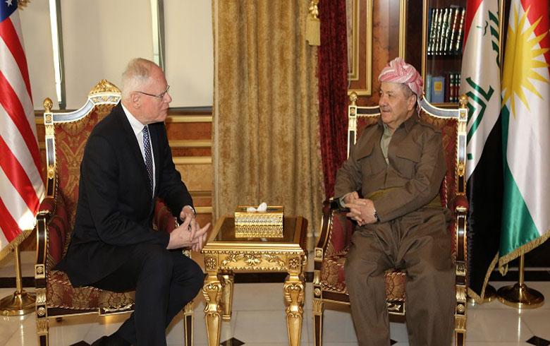 الرئيس بارزاني يبحث أوضاع كوردستان سوريا مع وفد أمريكي