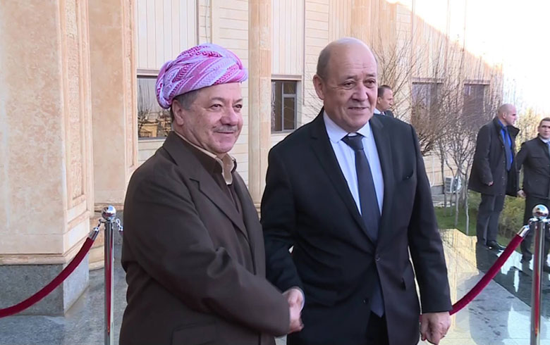 Barzani is worried about the fate of the Kurdish people in Syria, stressing the need to protect them