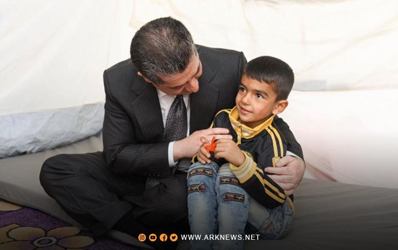 مسرور بارزاني للّاجئين والنازحين: كوردستان منزلكم