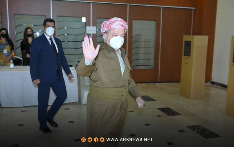 صور... الرئيس بارزاني يدلي بصوته في الانتخابات البرلمانية العراقية