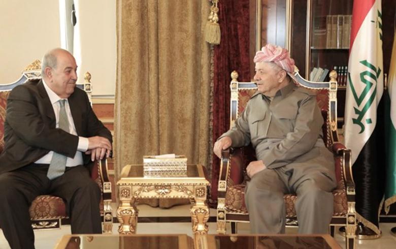 الرئيس بارزاني وعلاوي يتفقان على ثلاث نقاط حول العراق