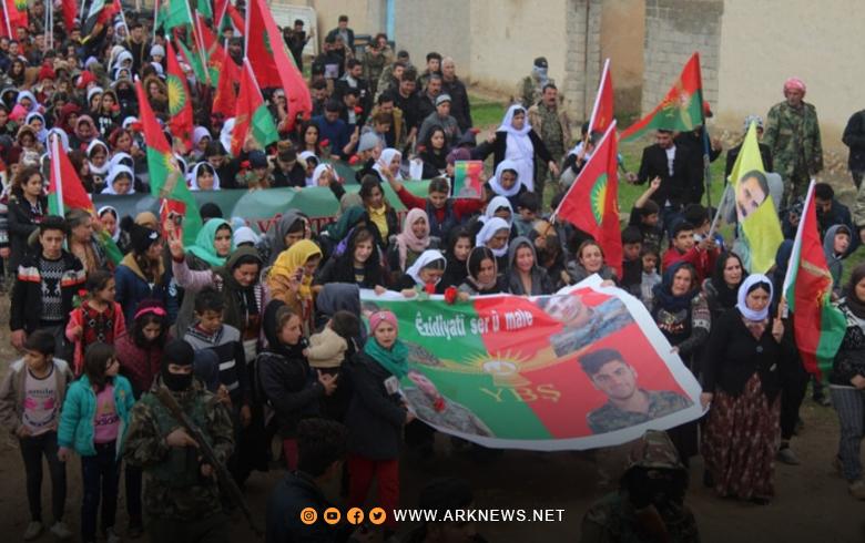 PKK يرغم العشرات على المشاركة في تظاهرات بشنكال