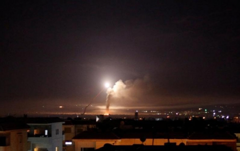Several missiles hit warehouses and military positions of Lebanese Hezbollah in Rif Dimashq
