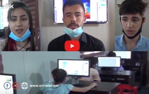 افتتاح دورة الحاسوب في مركز سردم بمخيم دوميز للاجئين الكورد السوريين