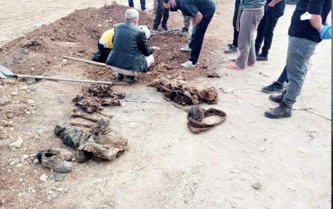 اكتشاف مقبرة جماعية في مدينة خاضعة لسيطرة تركيا
