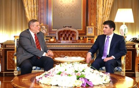 نێچیرڤان بارزاني ويان كوبيش يبحثان مسألة تشكيل الحكومة العراقية الجديدة