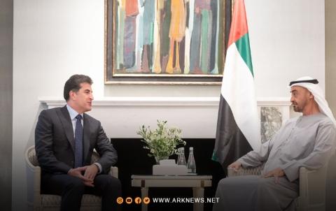 Kurdistan President, Abu Dhabi Crown Prince Discuss Strengthening Relations