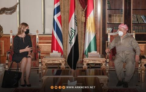 فحوى لقاء الرئيس بارزاني بالسفير النرويجي