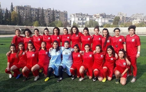 Amouda Women team wins first place in the Syrian Football League