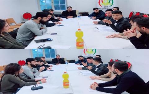 اجتماع لمحلية ألمانيا لاتحاد الطلبة والشباب الديمقراطي الكوردستاني - روجآفا