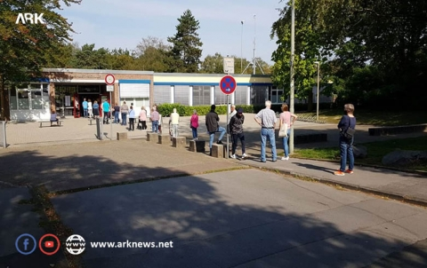 With pictures... Part of the Kurdish community voting process for Kurdish candidates in the German elections