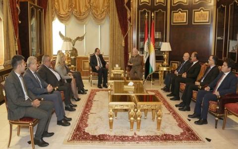 الرئيس بارزاني يستقبل وفد هيئة التفاوض للمعارضة السورية