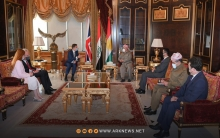 President Barzani and Stephen Hickey discuss political problems between the regional government and the federal government