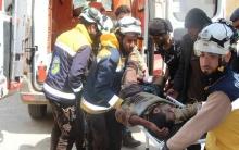 طيران النظام  يقصف المدنيين ويرتكب مجزرة بمعرة النعمان في ريف حماه