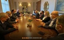 وفد من الائتلاف يجتمع مع المسؤول السياسي للملف السوري في إقليم كوردستان