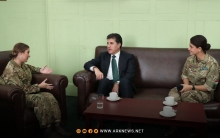 Nechirvan Barzani visits the Royal Academy of Sand Hurst and meets Kurdish students