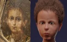 العلماء ينجحون في إعادة بناء وجه مومياء لطفل توفي قبل الميلاد ب 100 عام