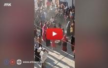 بالفيديو... تدافع واشتباك بالأيادي للحصول على الخبز من البراكيات بقامشلو