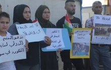Syrian Kurdish refugees in Kawergozik camp sit-in in solidarity with Syrian Kurdistan with (video).