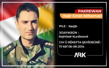 The sixth anniversary of the martyrdom of an officer of Roj Peshmerga