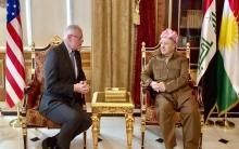 الرئيس بارزاني وجيفري يؤكدان على منع تعرض الكورد في كوردستان سوريا للمآسي والويلات والهجرة