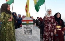 A delegation from PDK-S visits the tomb of Martyr Jomard Misho