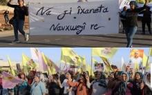 الشهباء... PKK يجبر مهجّري عفرين على الخروج في مسيرات مناهضة لاتفافية شنكال