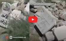 With video... The destruction of Kurdish graves in Afrin