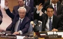 فيتو روسي-صيني حول نقل المساعدات الإنسانية إلى سوريا