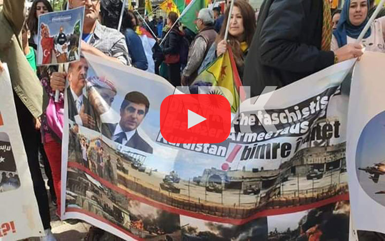 A solidarity march for Afrin turns into a theater for the betrayal of leaders of Kurdistan region (video and photo)
