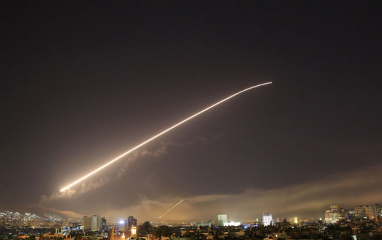 Israeli shelling on sites in Syria