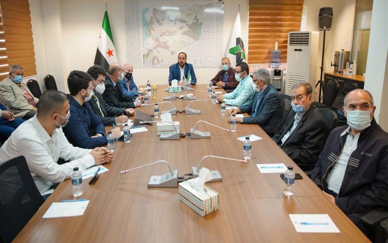 الهيئة السياسية تعقد اجتماعاً موسعاً مع رؤساء وممثلي مكونات الائتلاف